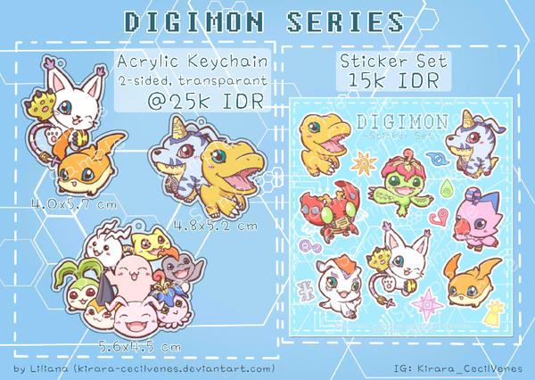 Digimon Merchandise by Kirara-CecilVenes
