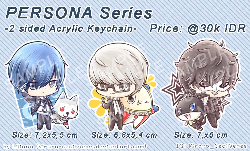 Persona Series Acrylic Keychain by Kirara-CecilVenes