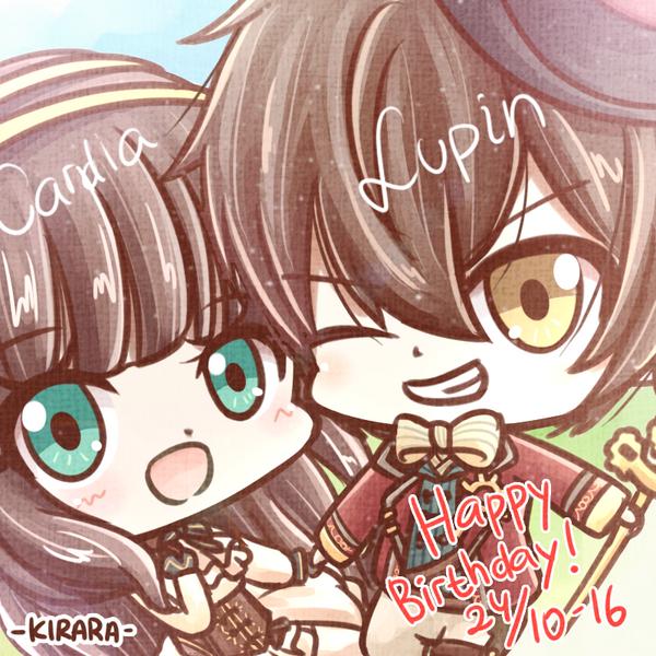 Chibi Lupin and Cardia by Kirara-CecilVenes