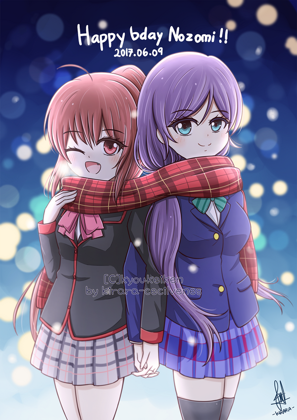 Commission - Rin Natsume and Toujou Nozomi by Kirara-CecilVenes
