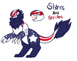 [Adopt] Stars and stripes salamoth - CLOSED by Hand-Helld