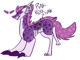 [adopt] Punk Rock Hyena - skelest -closed by Hand-Helld