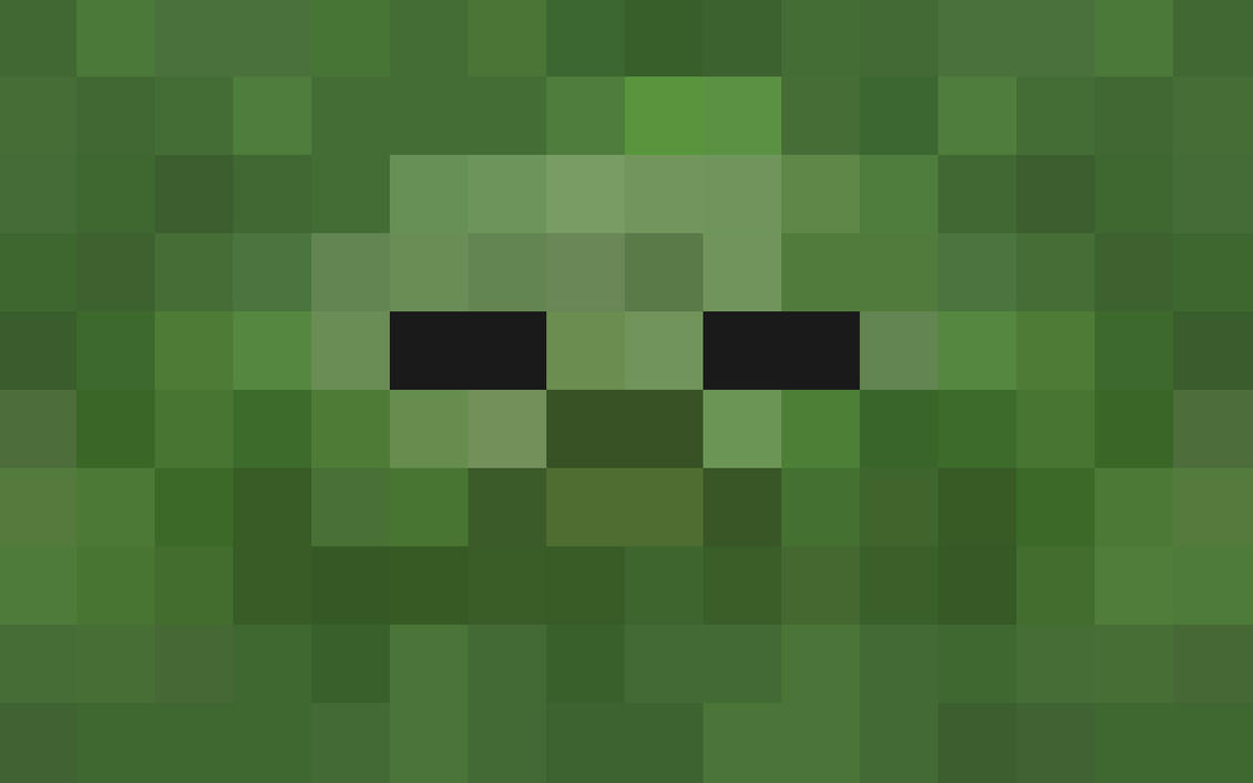 The gallery for --> Zombie Face Minecraft Pixel Art