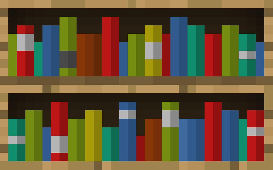 Minecraft Bookcase Wallpaper by LynchMob10-09 ... - Minecraft Bookcase Wallpaper By LynchMob10-09 On DeviantArt