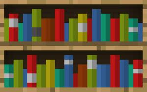 Minecraft Bookcase Wallpaper by LynchMob10-09