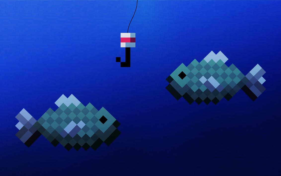 Minecraft Fishing Wallpaper By LynchMob10 09