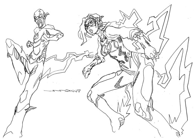The Flash and Jesse Quick by PlanetDann