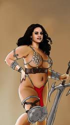 curvy warrior girl color