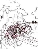 #Inktober Day 19: Flight - The Aeronaut by lightningdogs