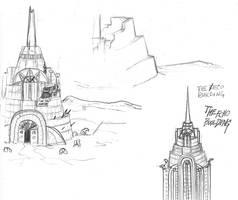 Concept Art: The Echo Building by lightningdogs