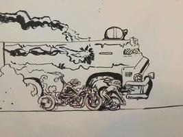 #Inktober Day 28: Fire - Brutus Under Siege by lightningdogs