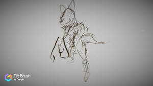 In Process: Dingo - Drawn in Google Tilt Brush by lightningdogs