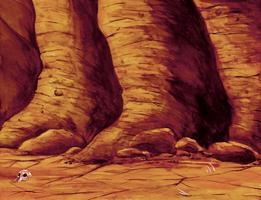 Desolate Backdrop Watercolor by lightningdogs