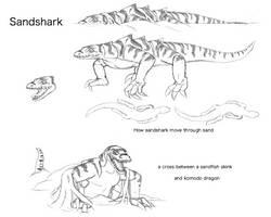 Fan Concept: Sandshark by lightningdogs