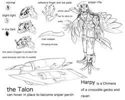 Fan Concept: Harpy by lightningdogs