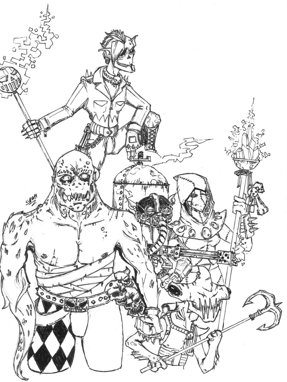 Fan Concept: Halloween Jack and the Skeleton Krew by lightningdogs
