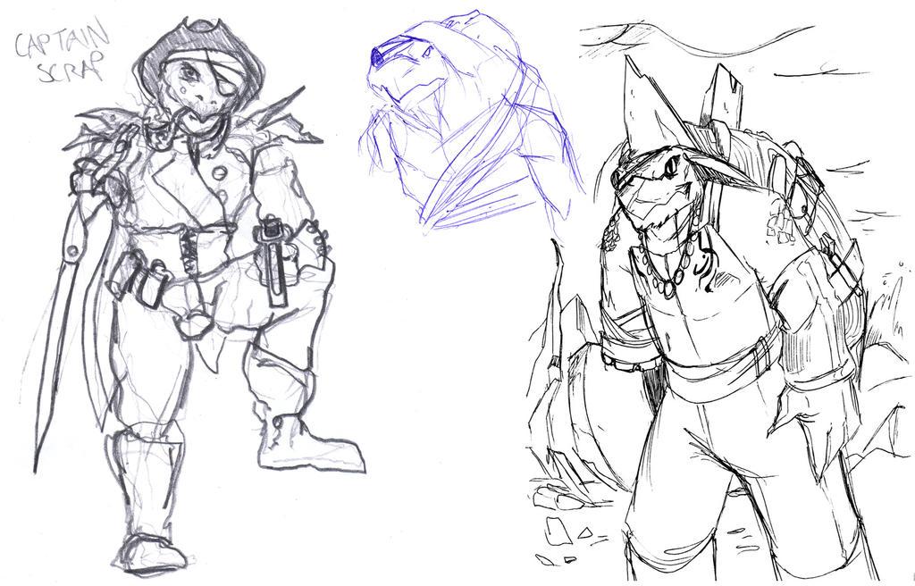 Early Captain Scrap Sketches