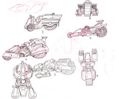First Round of Lightning Dogs Vehicle Concepts by lightningdogs
