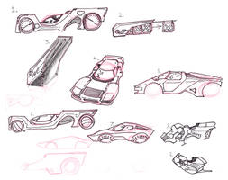 Glambos - Otherworldly Wedge Cars and More by lightningdogs