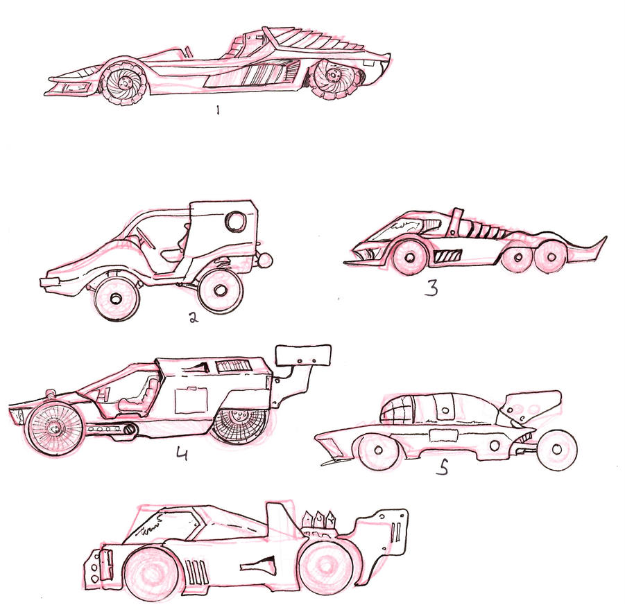 Additional Early Lightning Dogs Vehicle Concepts by lightningdogs