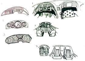 Lightning Rod Interior and Gauge Cluster Concepts by lightningdogs