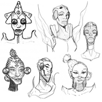 Queen Lich - Mid 2017 Concept Sketches by lightningdogs