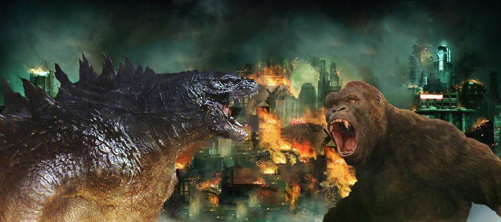 Godzilla vs King Kong by Justiceavenger on DeviantArt