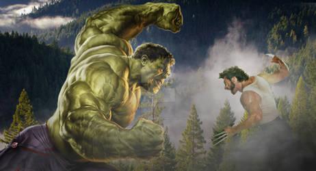 Hulk Vs Wolverine by Justiceavenger