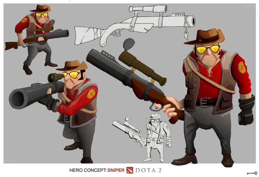 Dota2tf2 Sniper Crossover By Paeregrine On Deviantart