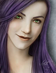 Ashley Portrait - CM by Artali-Artist