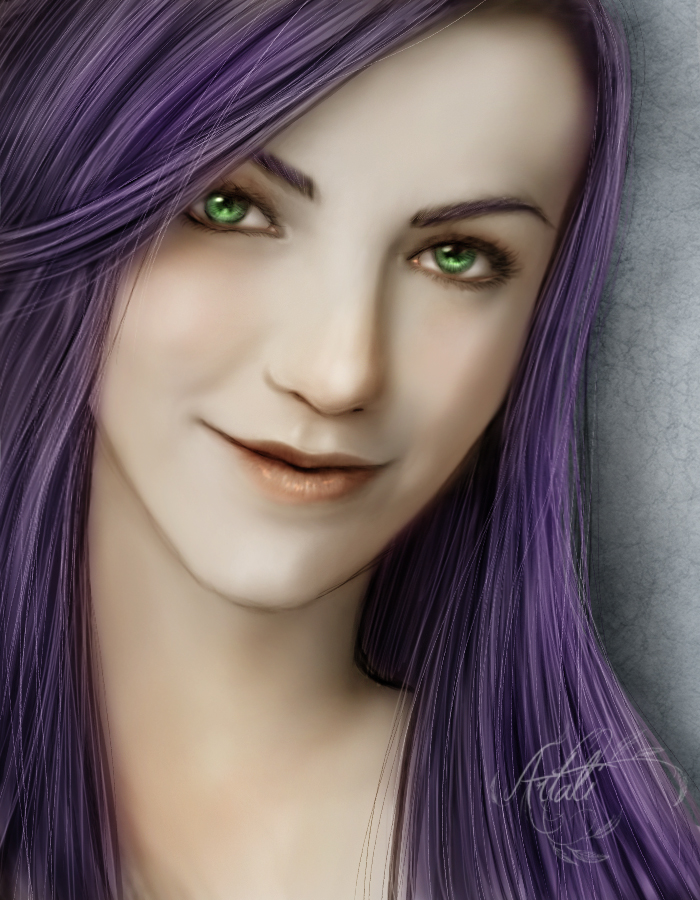 Ashley Portrait - CM by Artali-Artist