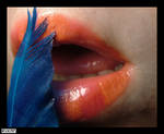 Feathery Lips by Rykan-