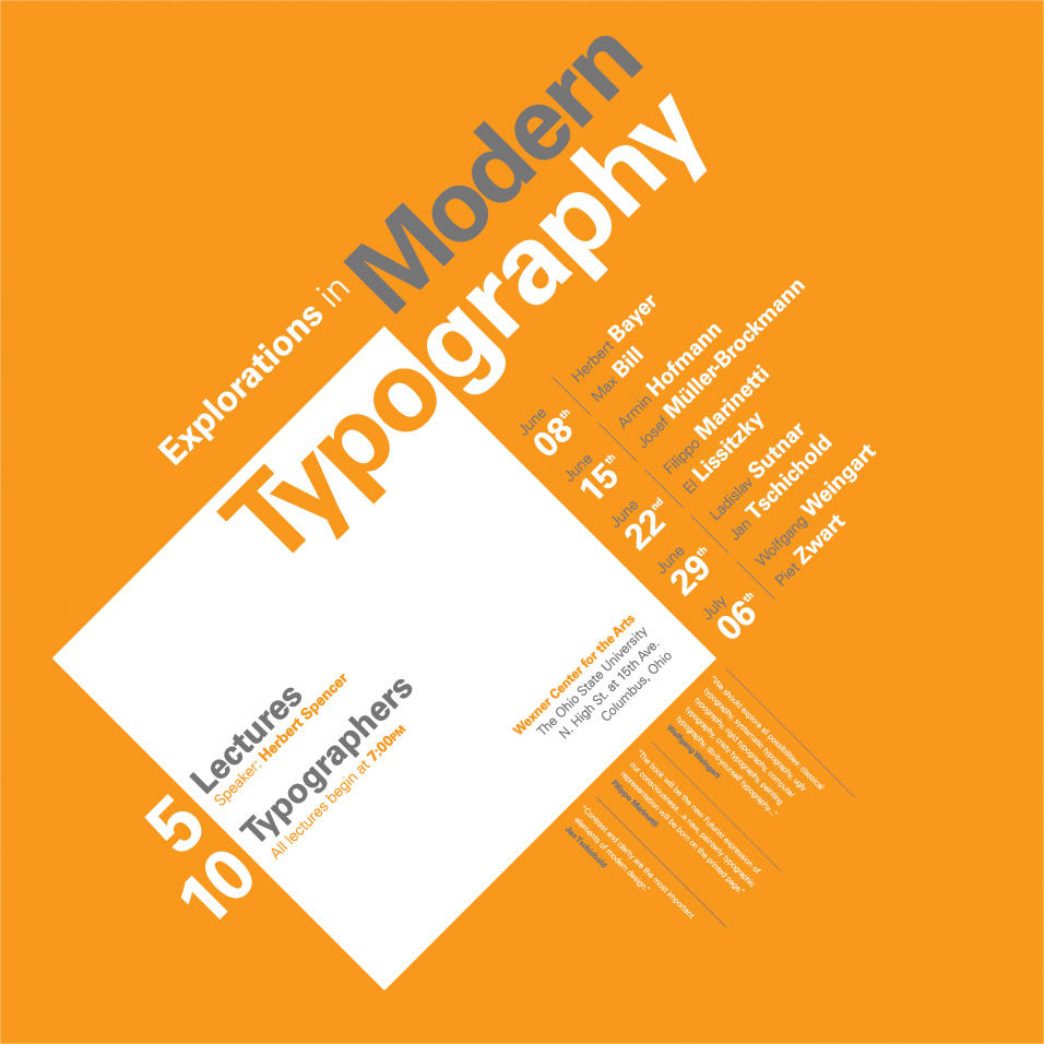Typographic Poster 2 by gerbs