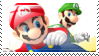 Mario Vs Luigi Stamp by Kevfin
