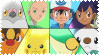 Pokemon Best Wishes Gang Stamp by Kevfin