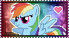 Rainbow Dash Stamp by Kevfin