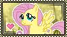 MLP Fluttershy Stamp by Kevfin