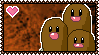 PokeStamps 51 : Dugtrio by Kevfin