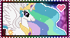 Princess Celestia Stamp by Kevfin