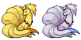 Pokemon Nintetales Sprite by Kevfin
