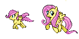 Fluttershy - Young and Present Sprite by Kevfin