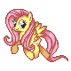 Fluttershy Pixel -New Style- by Kevfin