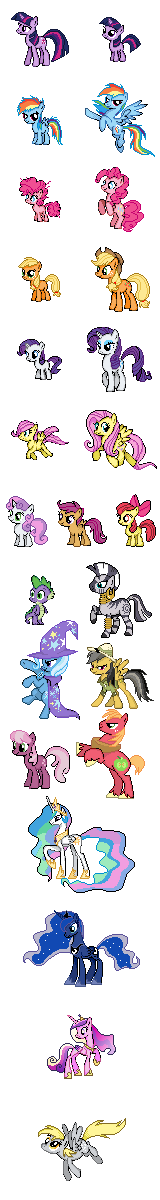 My Little Pony Sprites Series by Kevfin
