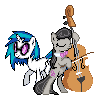 MLP Vinyl Scratch and Octavia Sprite by Kevfin