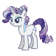MLP Crystal Series : Rarity by Kevfin