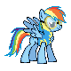 MLP Rainbow Dash Wonderbolt Sprite by Kevfin