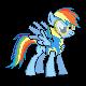 MLP Rainbow Dash Wonderbolt Sprite by Kevfin