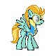 MLP Lightning Dust Sprite by Kevfin