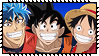 DragonBall Z x Toriko x One Piece Stamp by Kevfin