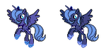 MLP Sprites S2 - Young Princess Luna by Kevfin